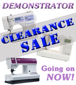Demonstrator Clearance Sale Banner