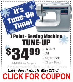 Sewing Machine - Tune Up Coupon